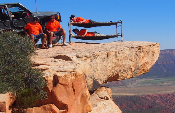 Jeep Enthusiasts Take Disc-O-Bed to the Top of the World.