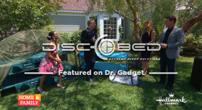 Dr. Gadget and Disc-O-Bed on the Hallmark Channel.