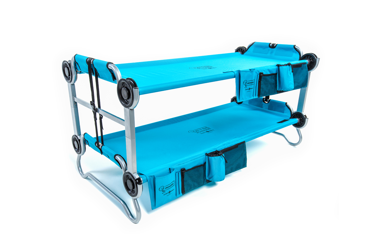 Kid-O-Bunk ...  sc 1 st  Disc-O-Bed & Kid-O-Bunk Teal With Organizers | Disc-O-Bed