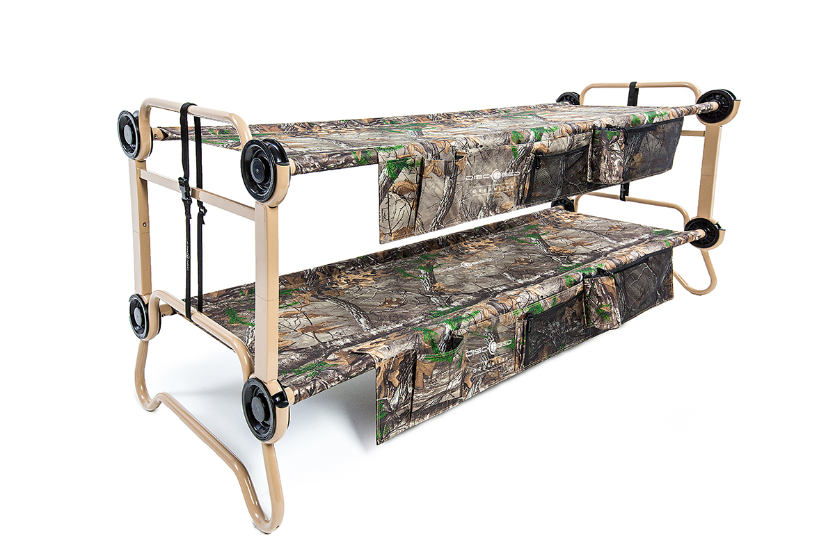 disc o bed cam o bunk l realtree with organizers disc o bed